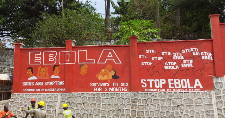Ebola signs in Freetown, Sierra Leone (Dr D Watson-Jones)
