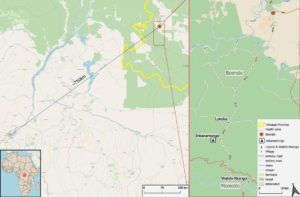Image of a map of the DRC trial and research site