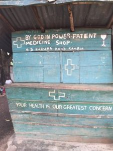 An image of a local clinic in Kambia